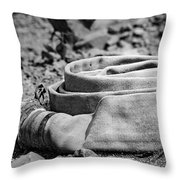 Abandoned Water Hose Throw Pillow