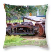 Abandoned Wheels Throw Pillow