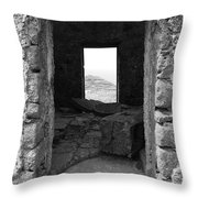 Abandoned Windmill Throw Pillow