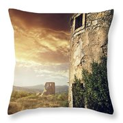 Abandoned Windmills Throw Pillow