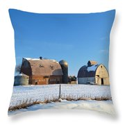 Abandoned Winter Throw Pillow