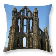 Abbey At Whitby  Throw Pillow