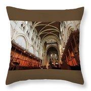 Abbey Church Of Saint Mary, Or Buckfast Abbey Throw Pillow