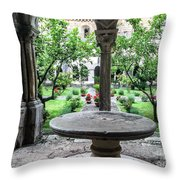 Abbey Cloister Throw Pillow