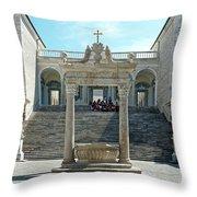 Abbey Of Montecassino Courtyard Throw Pillow