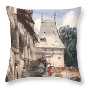 Abbey St-amand, Rouen Throw Pillow