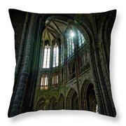 Abbey With Heavenly Light Throw Pillow