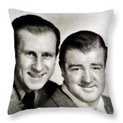 Abbott And Costello Throw Pillow