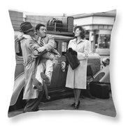 Abbott And Costello Throw Pillow