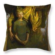 Abbott Handerson Thayer 1849 - 1921 Boy And Angel Throw Pillow