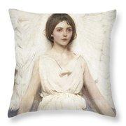 Abbott Handerson Thayer - Angel Throw Pillow