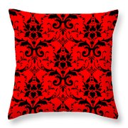 Abby Damask In Black Pattern 02-p0113 Throw Pillow