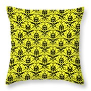 Abby Damask In Black Pattern 05-p0113 Throw Pillow
