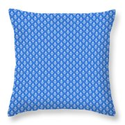 Abby Damask In White Pattern 18-p0113 Throw Pillow