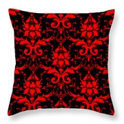 Abby Damask With A Black Background 02-p0113 Throw Pillow