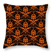 Abby Damask With A Black Background 03-p0113 Throw Pillow