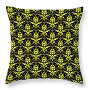 Abby Damask With A Black Background 05-p0113 Throw Pillow