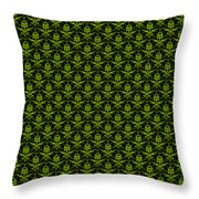 Abby Damask With A Black Background 09-p0113 Throw Pillow