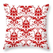Abby Damask With A White Background 02-p0113 Throw Pillow