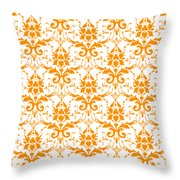 Abby Damask With A White Background 03-p0113 Throw Pillow