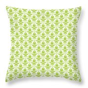 Abby Damask With A White Background 09-p0113 Throw Pillow