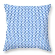 Abby Damask With A White Background 18-p0113 Throw Pillow