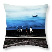 Abby Road By The Bay Throw Pillow