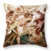 Abduction Of Hippodamia Throw Pillow