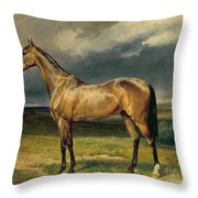 Abdul Medschid The Chestnut Arab Horse Throw Pillow