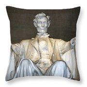 Abe Down To His Knees Throw Pillow