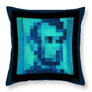 Abe In Aqua Throw Pillow