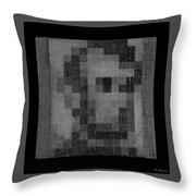 Abe In Black And White Throw Pillow