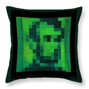Abe In Green Throw Pillow