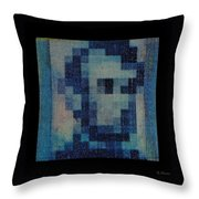 Abe In Light Blue Throw Pillow