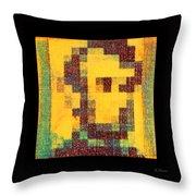 Abe In Yellow Throw Pillow