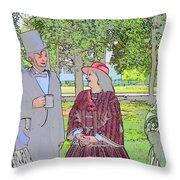 Abe Talks To The Ladies Throw Pillow