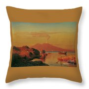 Abendlicher Blick Ber Den Golf Von Neapel Throw Pillow