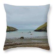 Abercastle Harbor 2 Wales Throw Pillow