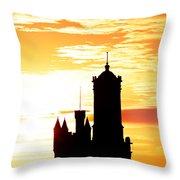 Aberdeen Silhouettes - Portrait Throw Pillow