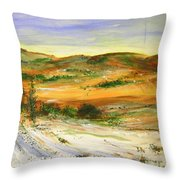 Aberdeen Winter Landscape Throw Pillow