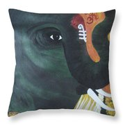 Abhaya Ganapathi Throw Pillow