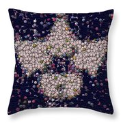 Abide Bottle Cap Mosaic Throw Pillow by Paul Van Scott