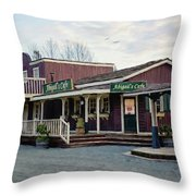 Abigail's Cafe - Hope Valley Art Throw Pillow