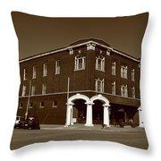 Abilene Kansas - Spruce And 3rd Sepia Throw Pillow