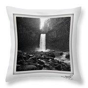 Abiqua Falls Amphitheater  Throw Pillow
