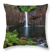 Abiqua Falls In Summer Throw Pillow