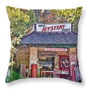 Abita Mystery House Throw Pillow