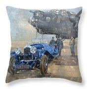 Able Mable And The Blue Lagonda  Throw Pillow