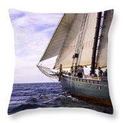 Aboard The Adventurer Throw Pillow
