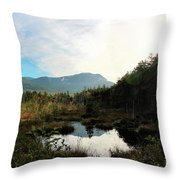 Abol Mt And Round Pond Throw Pillow